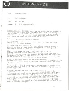 Thumbnail of Memorandum from Phil Pilley to Mark H. McCormack