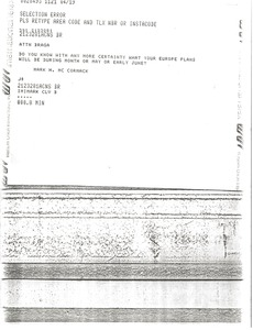 Thumbnail of Telex prinotut from Mark H. McCormack to Anotnio Carlos de Almeida Braga