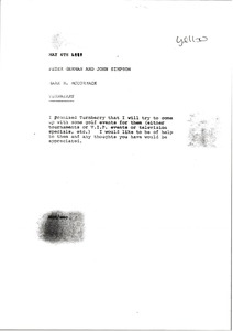 Thumbnail of Memorandum from Mark H. McCormack to Peter German and John Simpson