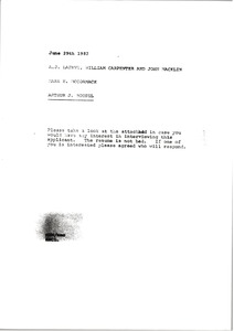 Thumbnail of Memorandum from Mark H. McCormack to A. J. Lafave, William Carpenter and John             Macklin