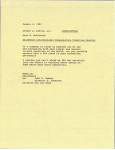 Thumbnail of Memorandum from Mark H. McCormack to Alastair J. Johnston