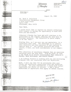Thumbnail of Letter from William Dragon to Mark H. McCormack