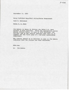 Thumbnail of Memorandum from Mark H. McCormack to Betsy Goff, Bob Happ, Phil Pilley, and             Brian Roggenburk