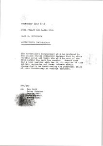 Memorandum from Mark H. McCormack to Phil Pilley and David Hill