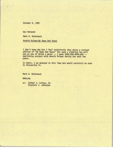 Thumbnail of Memorandum from Mark H. McCormack to Bev Norwood
