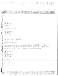 Thumbnail of Telex prinotut from Mark H. McCormack to Peter Neustadt