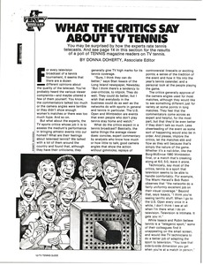 Thumbnail of Tennis coverage on television article