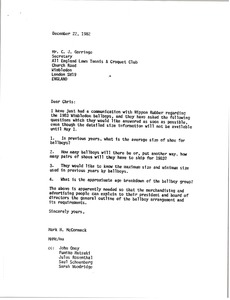Thumbnail of Letter from Mark H. McCormack to C. J. Gorringe