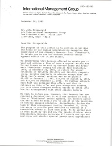 Thumbnail of Letter from Genesco, Inc. to John Fitzgerald