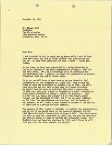 Thumbnail of Letter from Mark H. McCormack to Thomas Vail