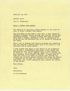 Thumbnail of Memorandum from Rita M. Shackleton to Barbara Kernc