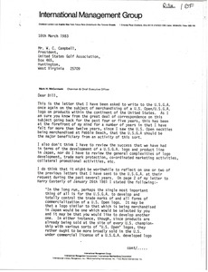 Thumbnail of Letter from Mark H. McCormack to W. C. Campbell
