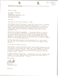 Thumbnail of Letter from Mike Sloan to Mark H. McCormack