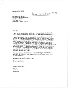 Thumbnail of Letter from Mark H. McCormack to Edwin L. Artzt