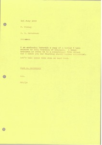Thumbnail of Memorandum from Mark H. McCormack to Phil Pilley