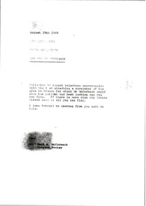 Thumbnail of Memorandum from Sarah Wooldridge to Lisabette Wood