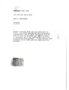 Thumbnail of Memorandum from Mark H. McCormack to Ian Todd and David Hill