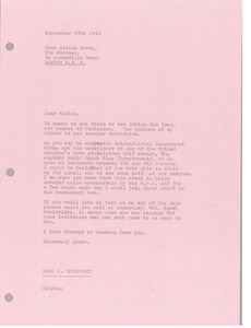 Thumbnail of Letter from Mark H. McCormack to Selina Scott