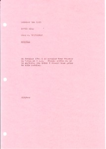 Thumbnail of Memorandum from Mark H. McCormack to David Hill
