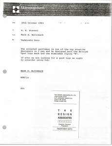 Thumbnail of Memorandum from Mark H. McCormack to H. K. Stanner