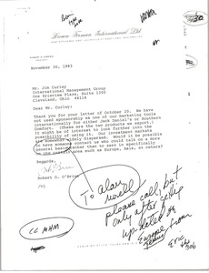 Thumbnail of Letter from Robert G. O'Brien to Jim Curley