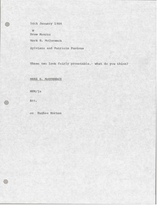 Thumbnail of Memorandum from Mark H. McCormack to Drew Mearns
