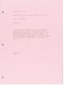 Thumbnail of Memorandum from Mark H. McCormack to Ian Todd, Bob Kain, Hughes Norton, and             Peter Worth