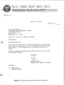 Thumbnail of Letter from JoAnn Cella to Alan Morell