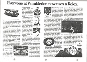 Thumbnail of Everyone at Wimbledon now uses a Rolex