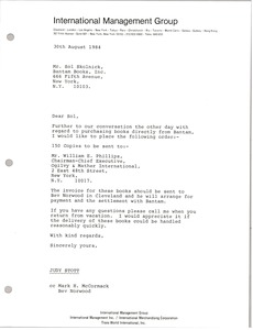 Thumbnail of Letter from Judy Stott to Sol Skolnick