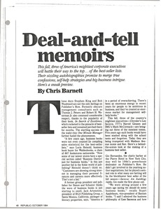 Thumbnail of Deal and tell memoirs