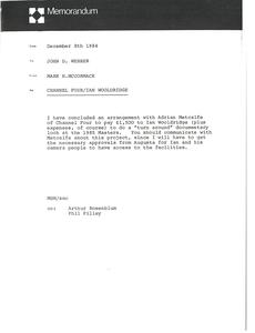 Memorandum from Mark H. McCormack to John D. Webber