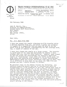 Thumbnail of Letter from Phil Pilley to John M. Morris
