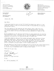 Thumbnail of Letter from Trish Faulkner to Mark H. McCormack