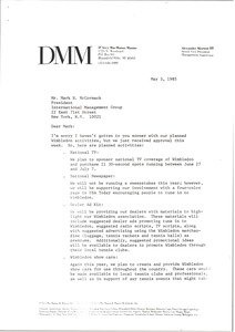 Thumbnail of Letter from Alex Morton to Mark H. McCormack