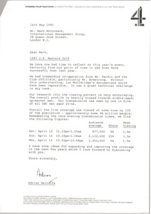 Thumbnail of Letter from Adrian Metcalfe to Mark H. McCormack
