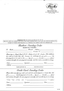 Thumbnail of Stocks Town Club order form