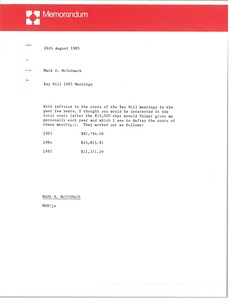 Thumbnail of Memorandum from Mark H. McCormack to unknown recipient