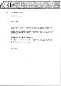 Thumbnail of Memorandum from Bob Kain to Mark H. McCormack
