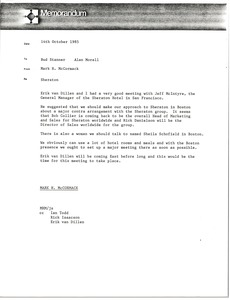 Thumbnail of Memorandum from Mark H. McCormack to Bud Stanner and Alan Morell
