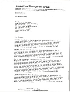 Thumbnail of Letter from Mark H. McCormack to George H. Conrades