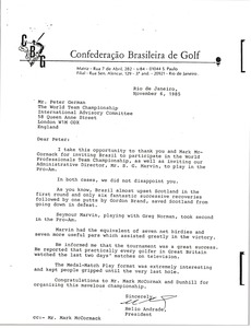 Thumbnail of Letter from Helio Andrade to Peter German