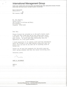 Thumbnail of Letter from Mark H. McCormack to Ray Reppert