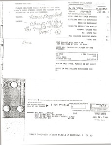 Thumbnail of Note from Hughes Norton to Laurie Roggenburk