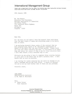 Thumbnail of Letter from Judy Stott to Sid Peters