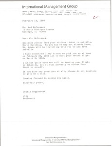 Thumbnail of Letter from Laurie Roggenburk to Ned McCormack