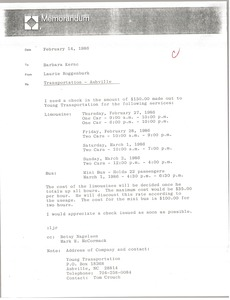 Thumbnail of Letter from Laurie Roggenburk to Barbara Kernc