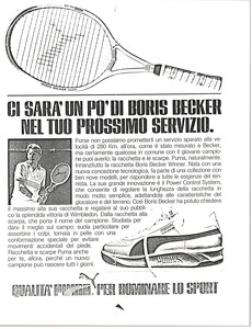 Thumbnail of Boris Becker Wimbledon shoe advertisement