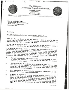 Thumbnail of Letter from Christopher Gorringe to Mark H. McCormack
