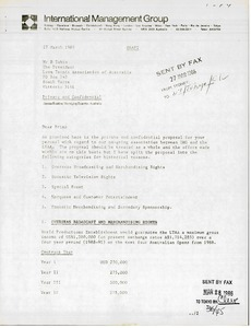 Thumbnail of Letter from James Erskine to Brian Tobin